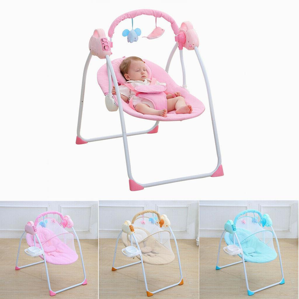 electric baby cradle swing sleeping rocking basket