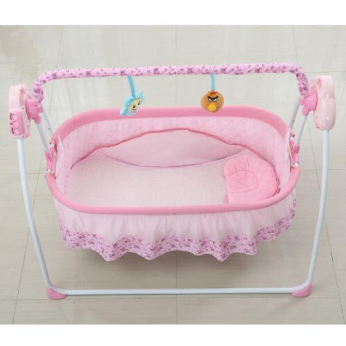 Electric Auto-Swing Big Bed Baby Cradle Crib