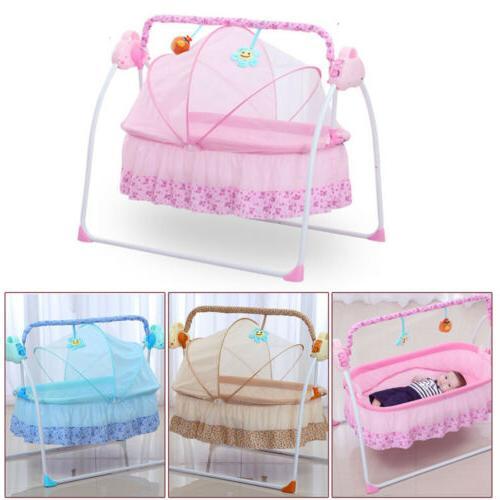 electric auto swing big bed baby cradle