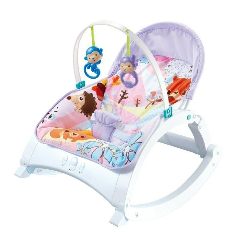 Electric Rocker Baby Infant Portable Cradle Bouncer Seat Sway