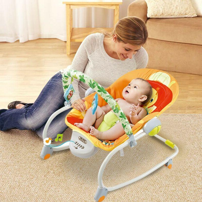 Electric Baby Cradle Swing Sleeping Rocking Basket Newborn B