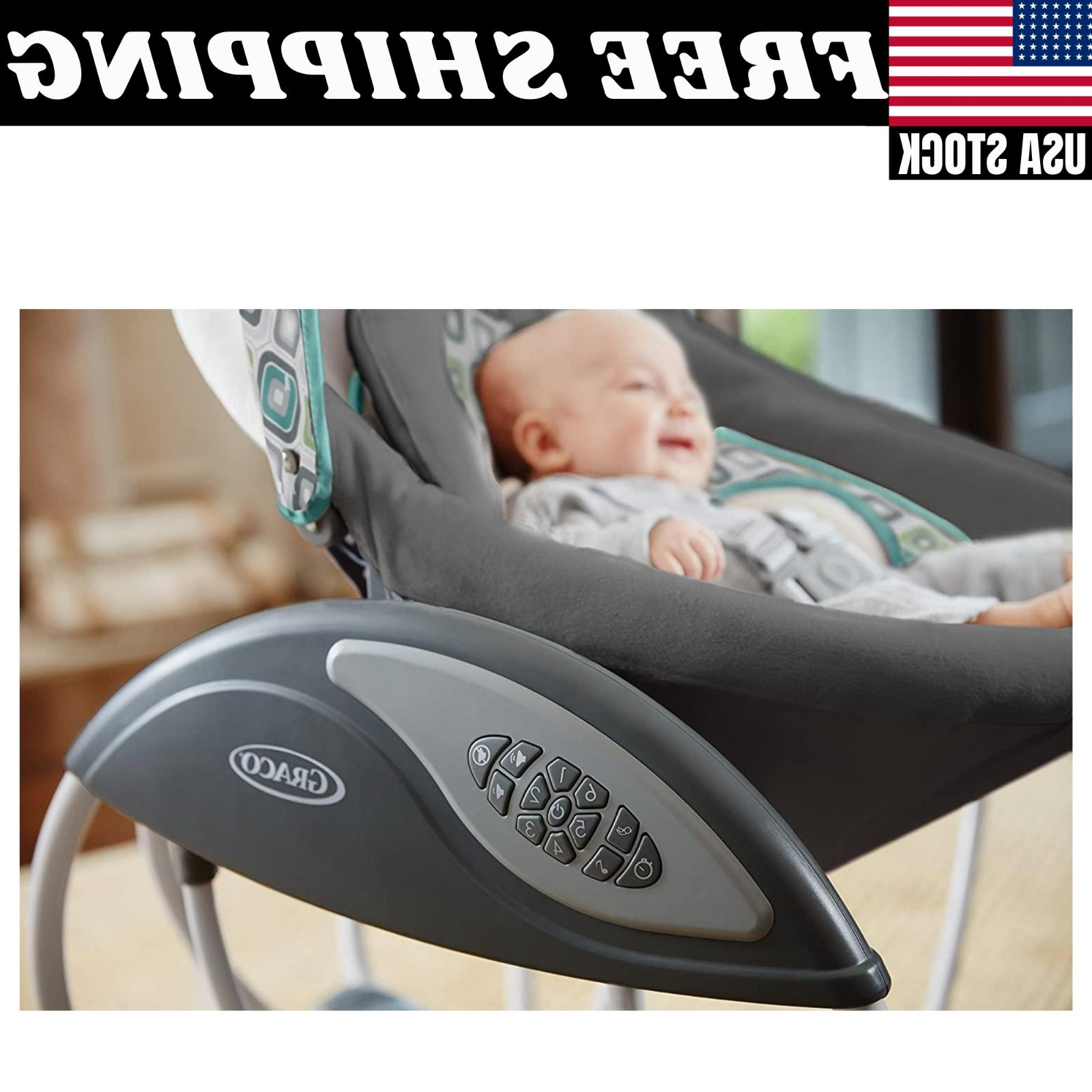 Graco Gliding Baby Swing Plug In or Use Batteries