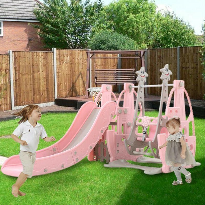 Indoor Outdoor Kids Play Slide Set Climber Playset Playgroun
