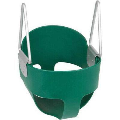 Green Baby Swing set Full Bucket Swing Outdoor & Indoor Play