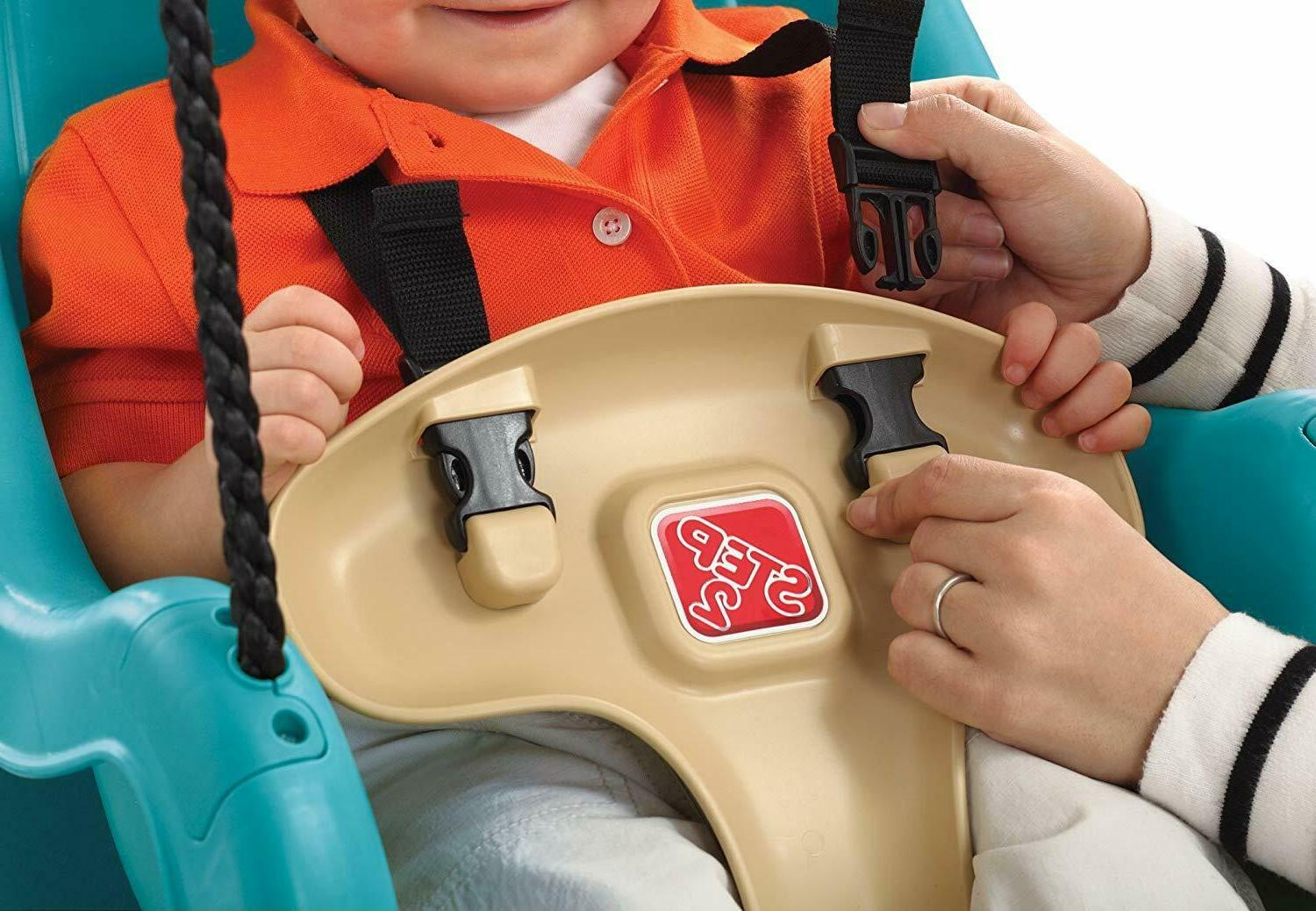 New Opened Infant To Toddler Swing Seat, Turquoise