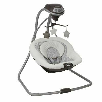 Compact Baby Swing Side Motion Cradle Sounds Vibrating Small