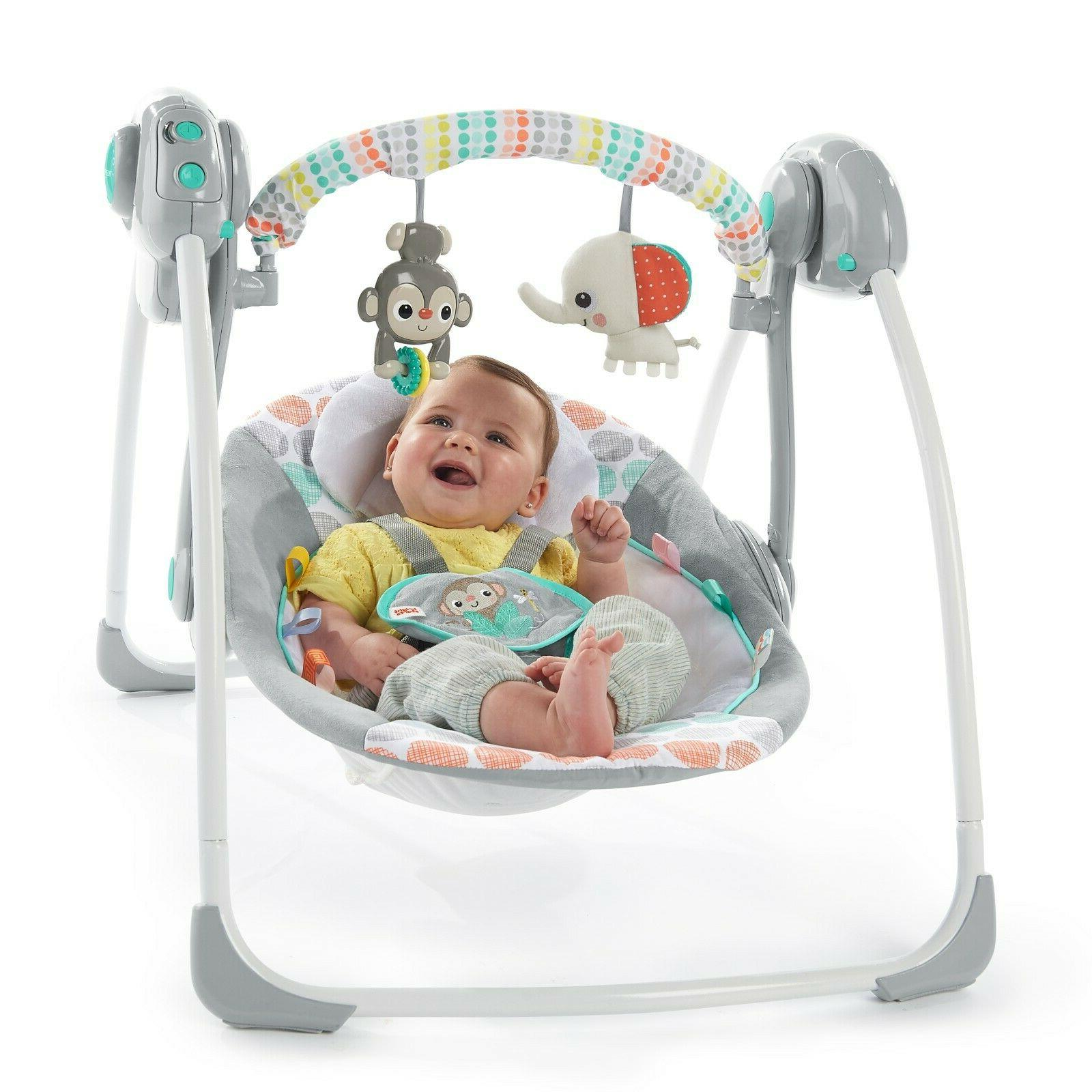 Bright Starts Whimsical Wild Portable Swing Brand New! Infan
