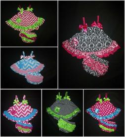 NEW Boutique Baby Girls Swing Top & Ruffle Bloomers Girls Ou