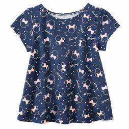 New, Disney's Minnie Mouse Baby Girl Print Swing Top