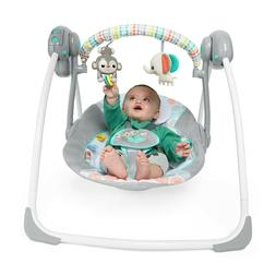 New Rock-A-Bye Baby Whimsical Wild Portable Travel Swing Jun