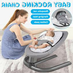 Newborn Baby Infant Swing Rocker Cradle Toddler Chair Safety