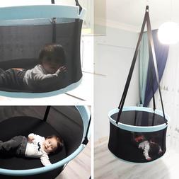Nursery baby or toddler bassinet swing hammock for indoor or