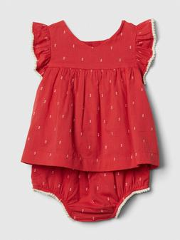 NWT Baby Gap Girls Red Swiss Dot Swing Top Bloomers Outfit 1
