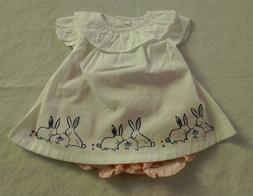 NWT Gymboree Bunny Rabbit Swing Top Bloomers Set 0-3 Months