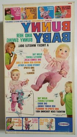 RARE HTF 1969 Remco BUNNY BABY Doll New in Box w/Bunny Swing