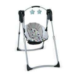 Graco Slim Spaces Compact Baby Swing, Etcher Edition.  Gray