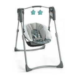 Slim Spaces Compact Baby Swing Space-Saving Design Carry han