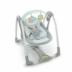 Ingenuity Swing 'n Go Portable Baby Swing - Hugs & Hoots - w