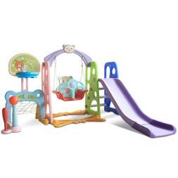 Swing Set Swingset Metal Playground Play Playset Outdoor Wav
