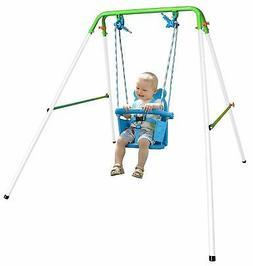 Toddler Kids Baby Swing Set Indoor Outdoor Backyard Swingset