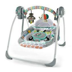 Unisex Portable Jungle Theme Baby Swing Comfy Adjustable Rec