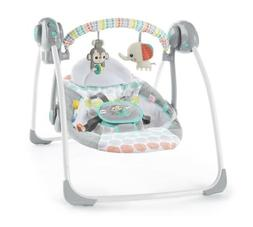 Bright Starts Whimsical Wild Portable Baby Swing 2-Position