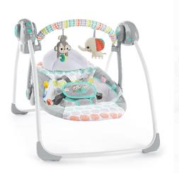 Baby Swing Compact And Portable Bright Starts Whimsical Wild
