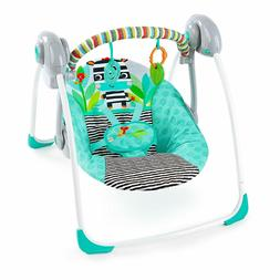 Bright Starts Zig Zag Zebra Portable Swing with Whisperquiet